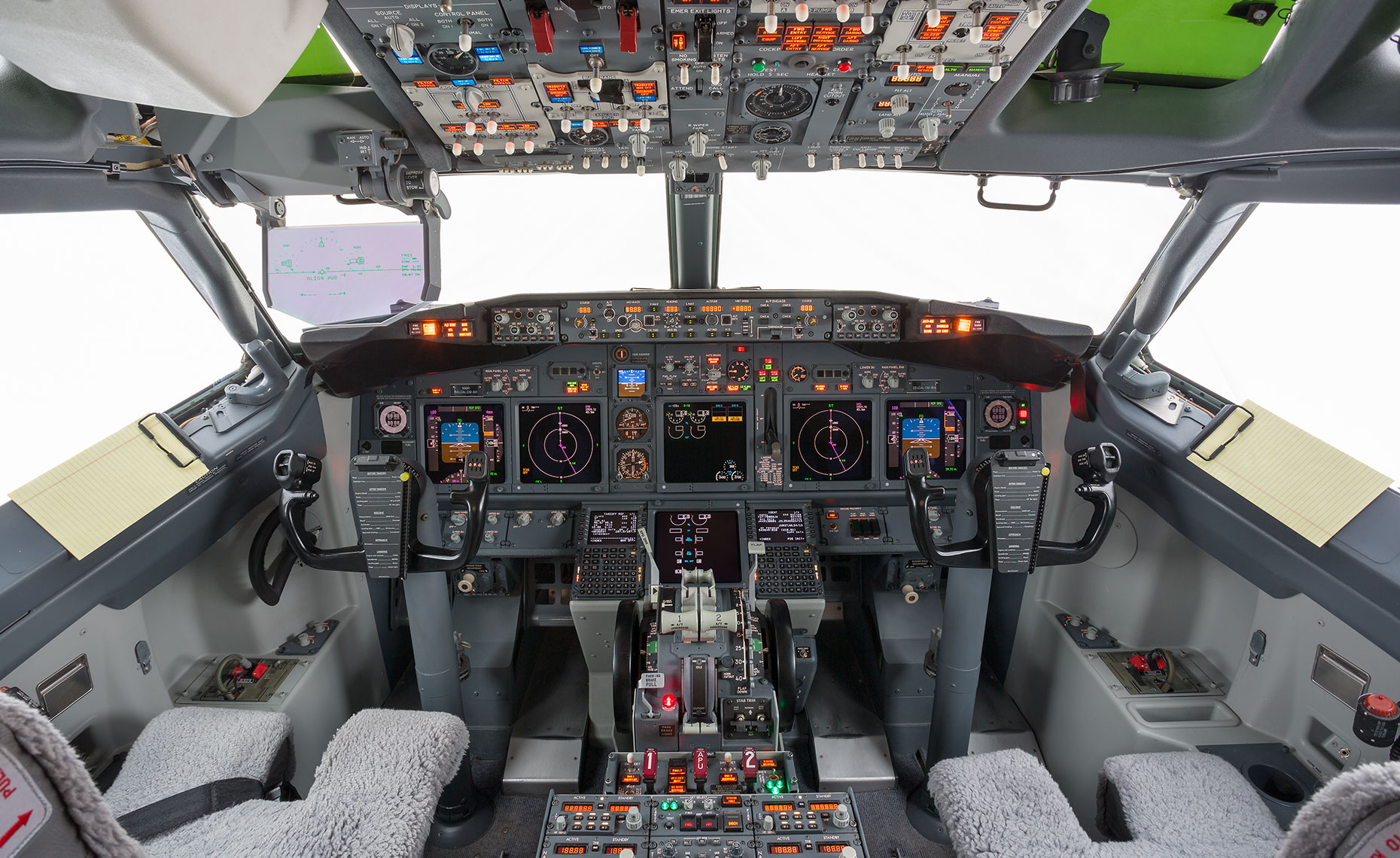 Boeing BBJ Flight Deck