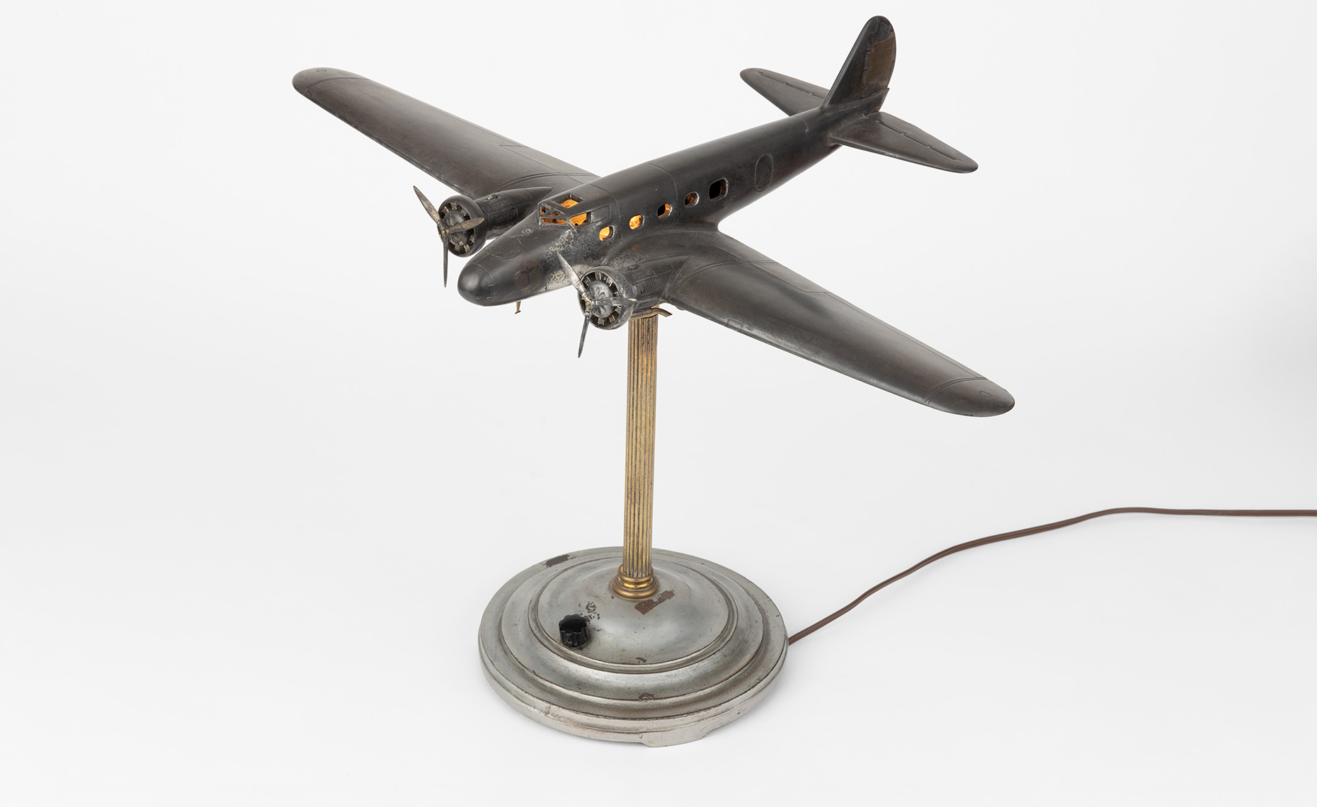 Boeing 247 table lamp by A. C. Rehberger