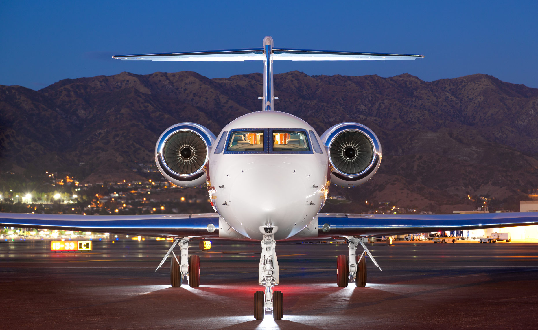Gulfstream Private Business Jet at Burbank Airport