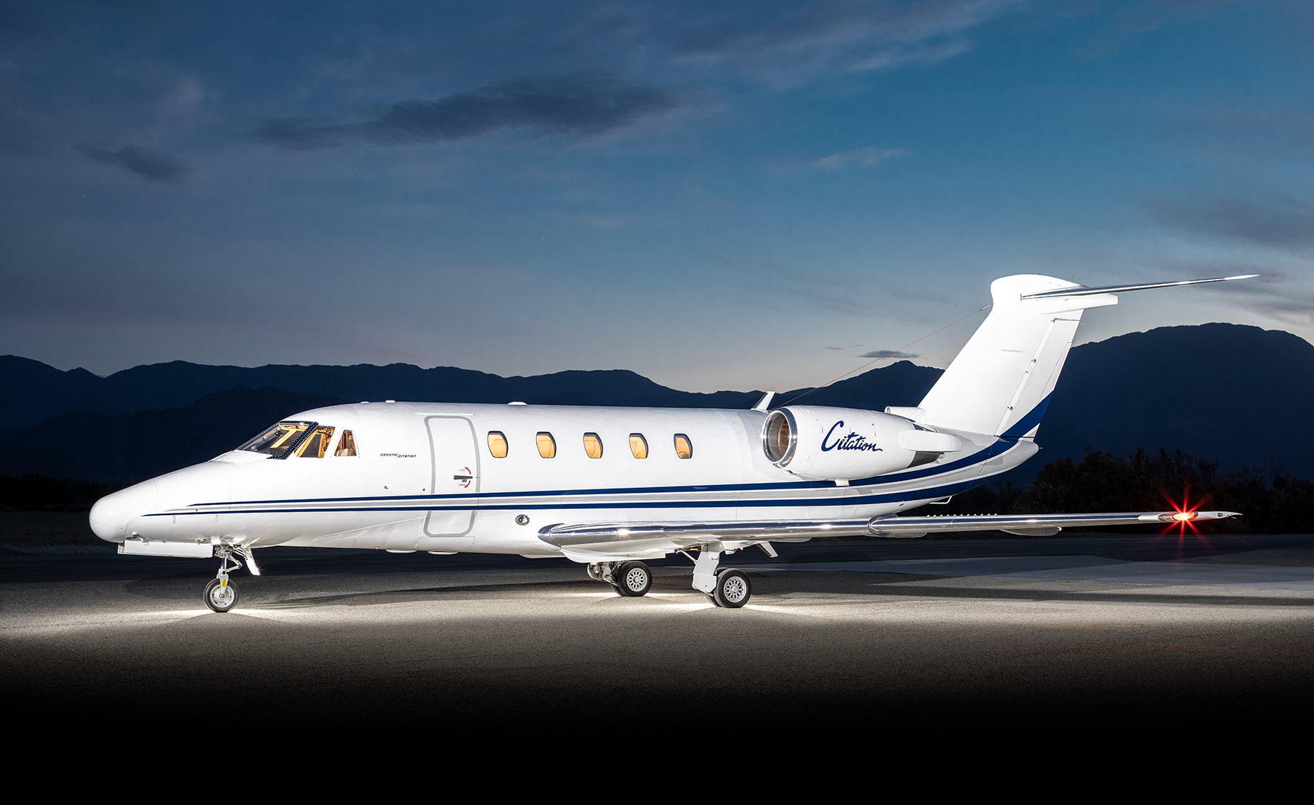 Cessna Citation III private jet.