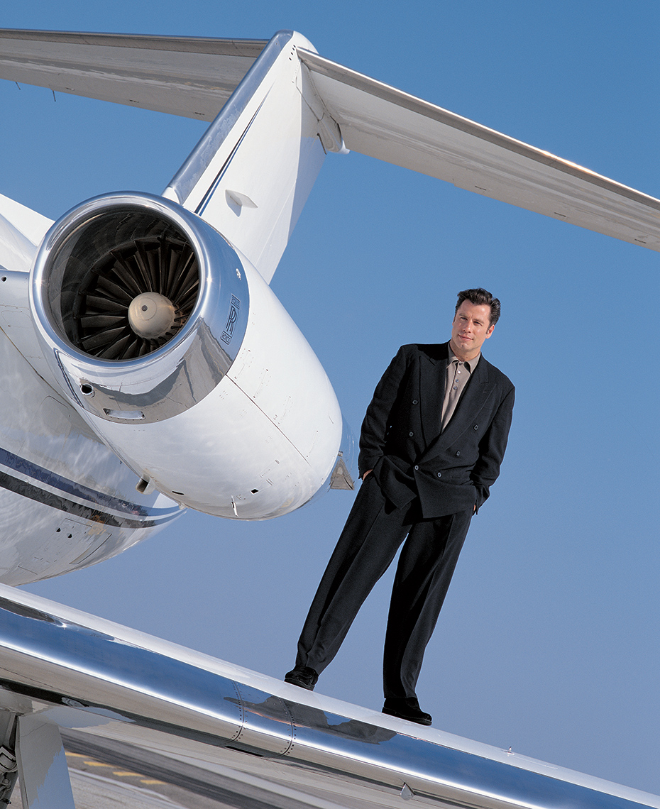 John Travolta on his Gulfstream