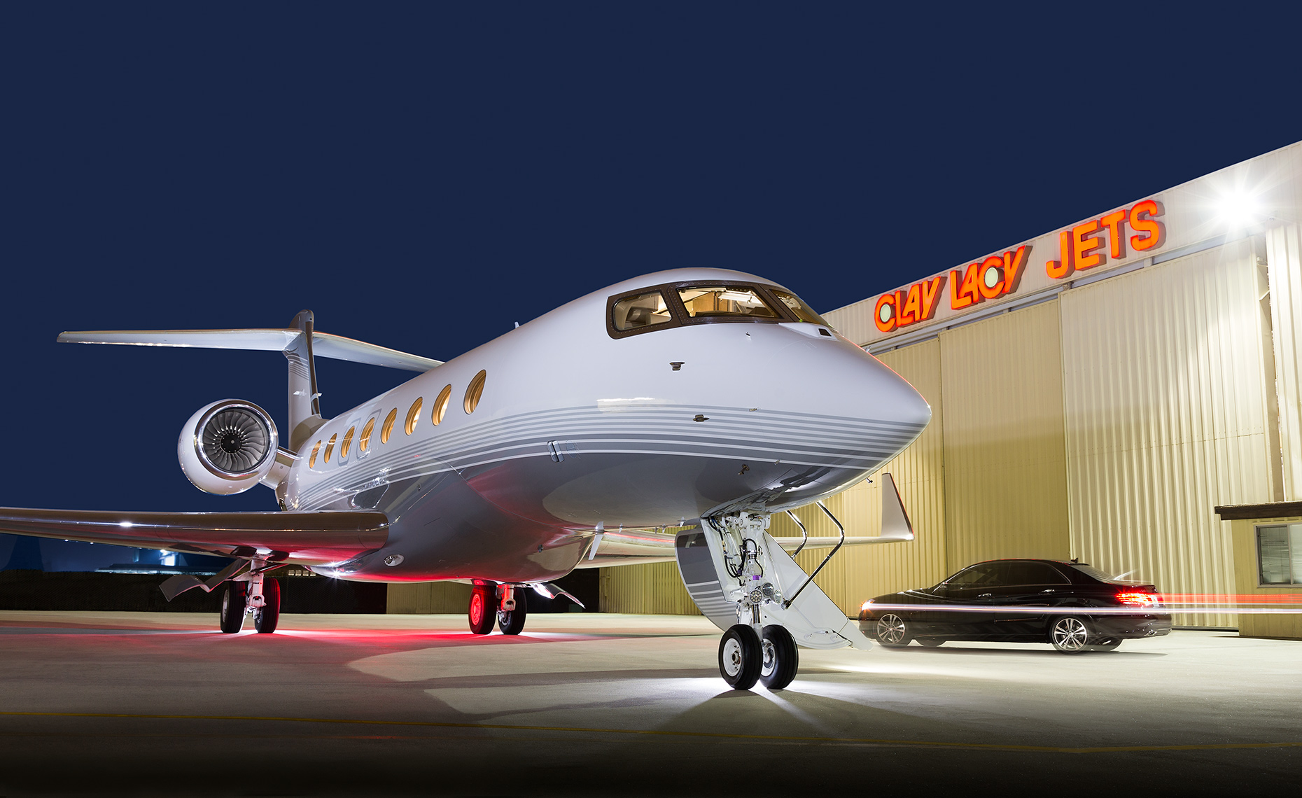 Gulfstream G650 Business Jet at Clay Lacy Aviation