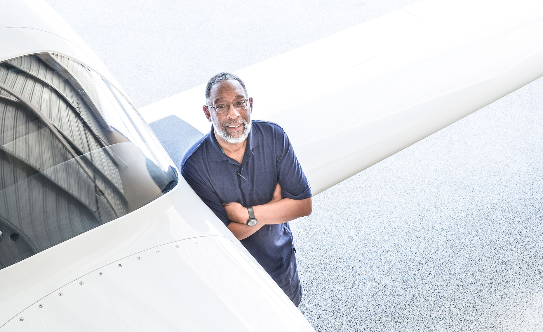Pilot Reginald Webb with Lancair IV-P